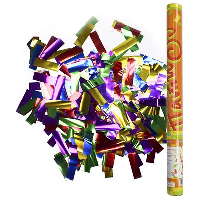 Фейерверк - Пневмохлопушка 60 см в пластиковой тубе фольгированное конфетти