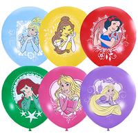 Фейерверк - Воздушные шары 30см Дисней Принцессы, 25шт.