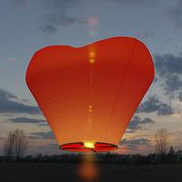 Фейерверк - Небесный фонарик, сердце 3D (красный)